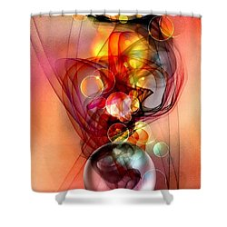 Shower Curtain featuring the digital art Hot Twister By Nico Bielow by Nico Bielow