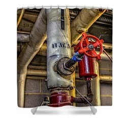 Hot Water Supply Shower Curtain
