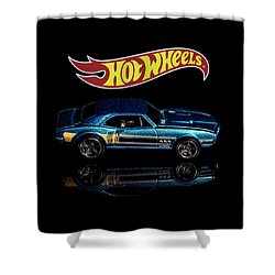 Shower Curtain featuring the photograph Hot Wheels '67 Pontiac Firebird 400-1 by James Sage