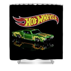 Shower Curtain featuring the photograph  Hot Wheels '69 Ford Torino Talladega by James Sage