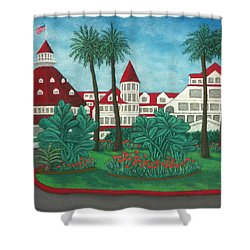 Hotel Del Coronado Shower Curtain