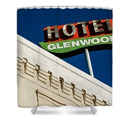 Hotel Glenwood Tucson Arizona By Gene Martin Shower Curtain