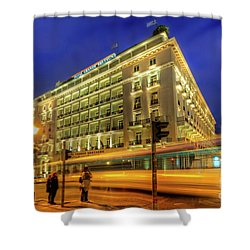 Shower Curtain featuring the photograph Hotel Grande Bretagne - Athens by Yhun Suarez