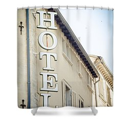 Shower Curtain featuring the photograph Hotel by Jason Smith
