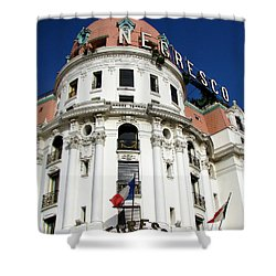 Hotel Negresco In Nice Shower Curtain by Carla Parris