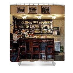 Shower Curtain featuring the photograph Hotel Presidente Bar Havana Cuba by Charles Harden