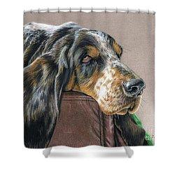 Hound Dog Shower Curtain by Sarah Batalka