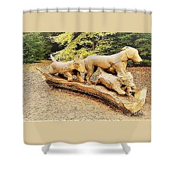 Hounds On The Run Shower Curtain