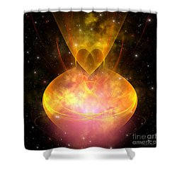 Hourglass Nebula Shower Curtain by Corey Ford