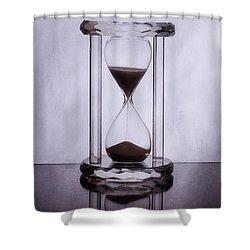 Hourglass - Time Slips Away Shower Curtain by Tom Mc Nemar