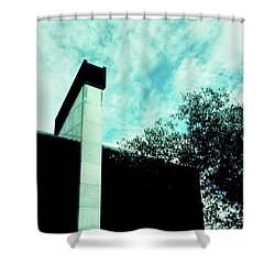 House And Sky Shower Curtain