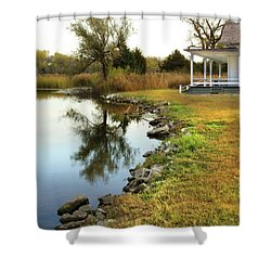 Shower Curtain featuring the photograph House By The Edge Of The Lake by Jill Battaglia