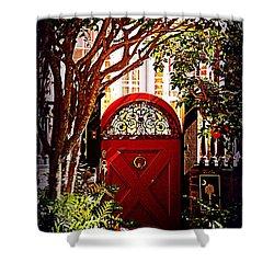 House Door 5 In Charleston Sc  Shower Curtain