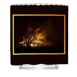 House Fire Shower Curtain
