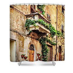 Shower Curtain featuring the photograph House In Arezzoo, Italy by Marion McCristall