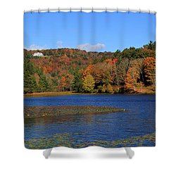 House In The Mountains Shower Curtain