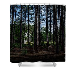 House In The Pines Shower Curtain