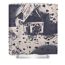 Shower Curtain featuring the photograph House Of Cards by Jorgo Photography - Wall Art Gallery