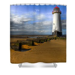 House Of Light Shower Curtain by Adrian Evans