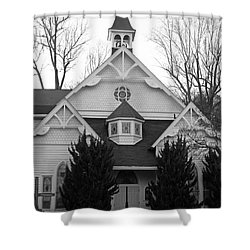 Shower Curtain featuring the photograph House Of Prayer by Emmy Marie Vickers