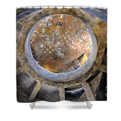 House Of The Hopi Shower Curtain by David Lee Thompson