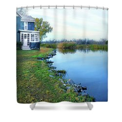 Shower Curtain featuring the photograph House On A Lake by Jill Battaglia