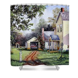 House On Bird Street Shower Curtain