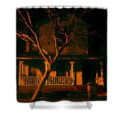 House On Haunted Hill Shower Curtain by David Lee Thompson