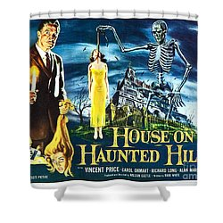 House On Haunted Hill Poster Classic Horror Movie  Shower Curtain