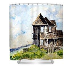 House On Little Lake Street Mendocino Shower Curtain