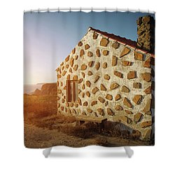 Shower Curtain featuring the photograph House On The Cliff by Carlos Caetano