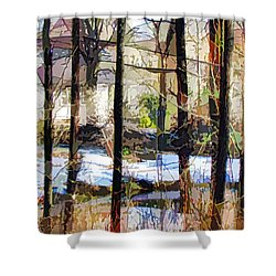House Surrounded By Trees 2 Shower Curtain by Lanjee Chee