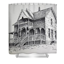 House Virginia City Montana Shower Curtain by Kevin Heaney