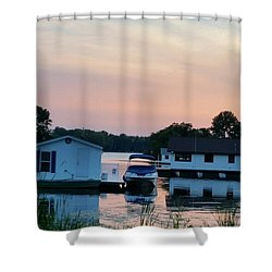 Houseboats In The Sunset Shower Curtain