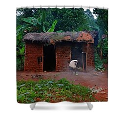 Housecleaning Africa Style Shower Curtain