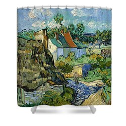 Shower Curtain featuring the painting Houses In Auvers by Van Gogh