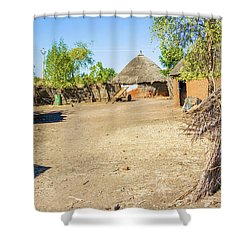 Houses In Rashid,  Sudan Shower Curtain by Marek Poplawski