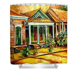 Houses In The Marigny Shower Curtain by Diane Millsap