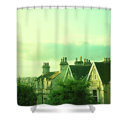 Shower Curtain featuring the photograph Houses by Jill Battaglia