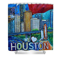 Houston Montage Shower Curtain