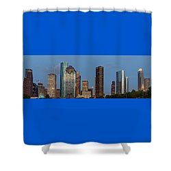Shower Curtain featuring the photograph Houston Skyline Panorama by Jonathan Davison
