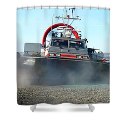 Hover Craft Shower Curtain by Anthony Jones