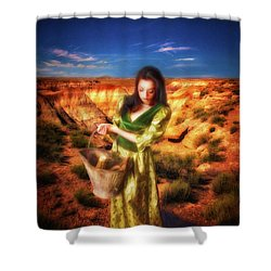 How Come The Men Get Shoes  ... Shower Curtain by Chuck Caramella