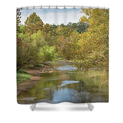Shower Curtain featuring the photograph How Green The Valley by John M Bailey