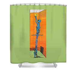 How Many Aliens Does It Take To Screw In A Light Bulb?  Seven. Shower Curtain