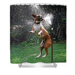 How To Handle A Heat Wave Shower Curtain by Skip Willits
