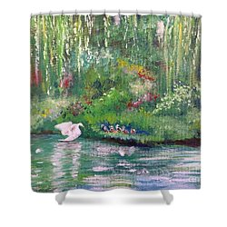 How To Swan Shower Curtain