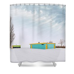 Shower Curtain featuring the photograph How To Wear Bright Colors In The Winter by John Poon