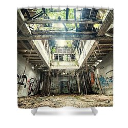 How Long Was I Really Away / Art Abstract Shower Curtain by Sheila Mcdonald