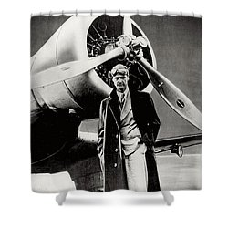 Howard Hughes - American Aviator  Shower Curtain